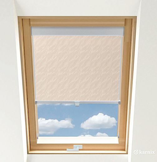 Roleta do okien dachowych BASIC AQUA - Pearl / Srebrny