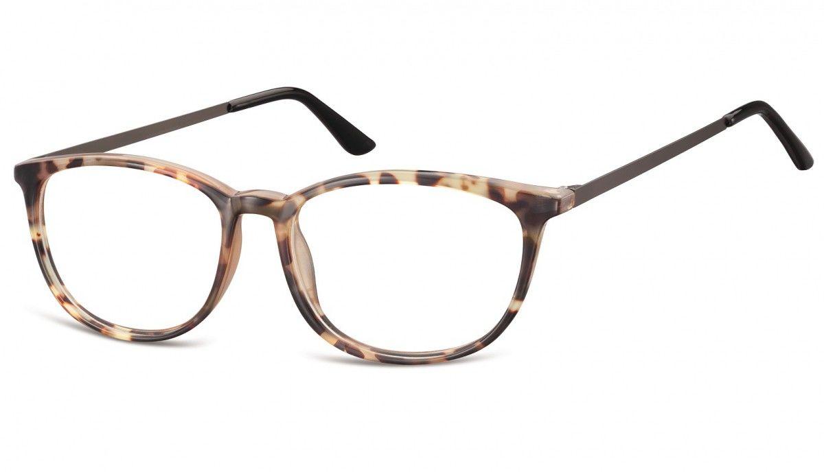 Okulary oprawki korekcyjne Nerdy zerówki Sunoptic CP143E jasny szylkret-panterka