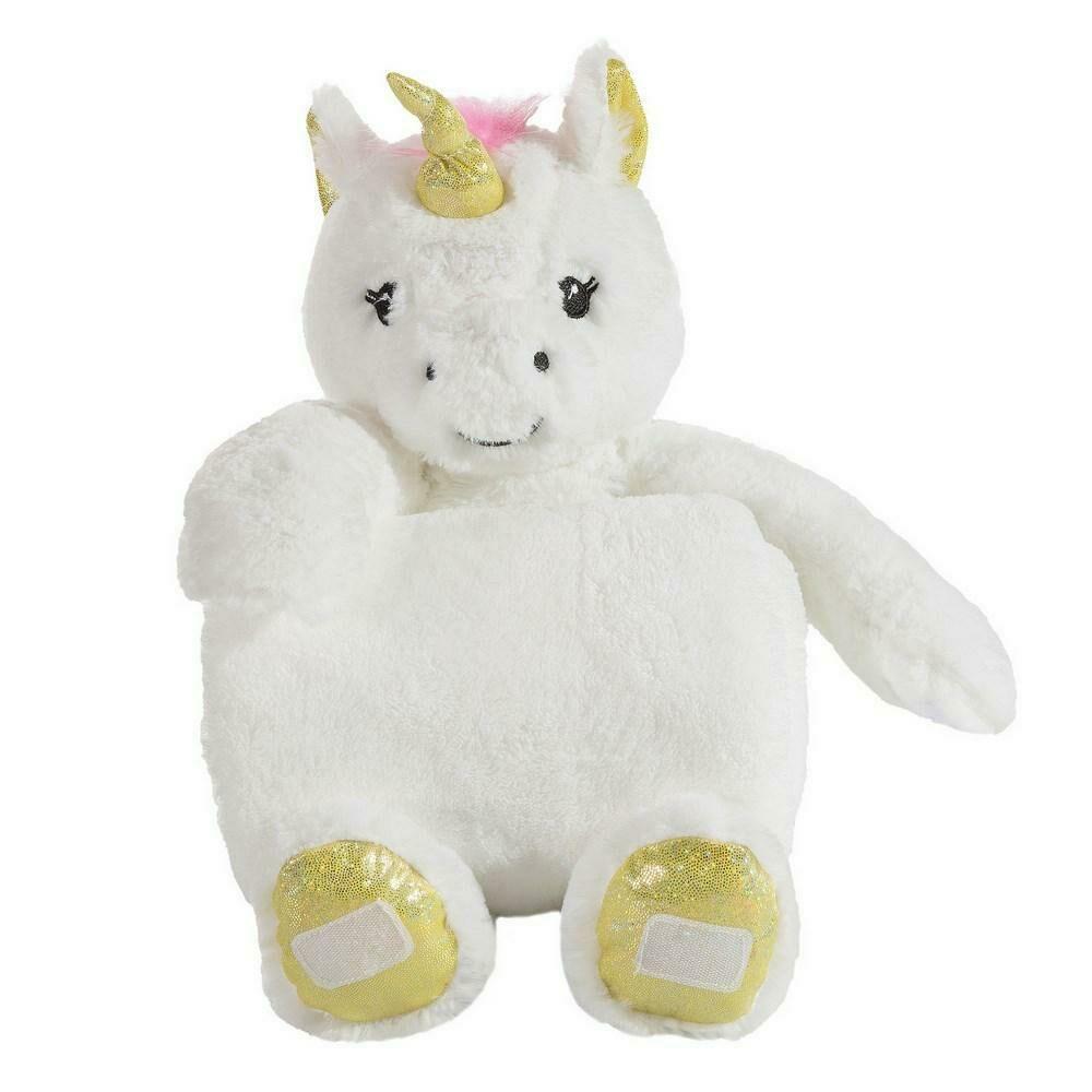 Kocyk dziecięcy 75x100 Toy 4 biały żółty pluszak zabawka jednorożec Eurofirany