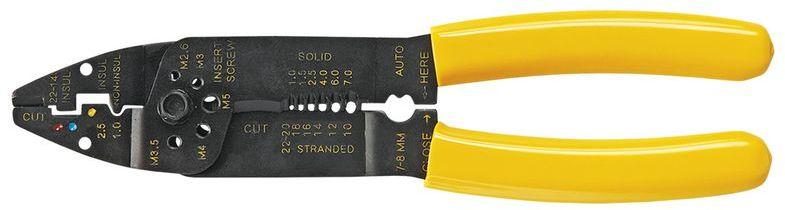 Szczypce do zaciskania końcówek 210mm zakres 1,0-7 mm2 32D404