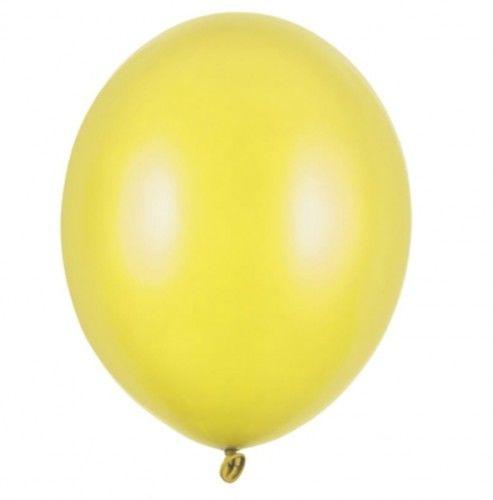 """Balon mały 5"""" żółty, metaliczny"""