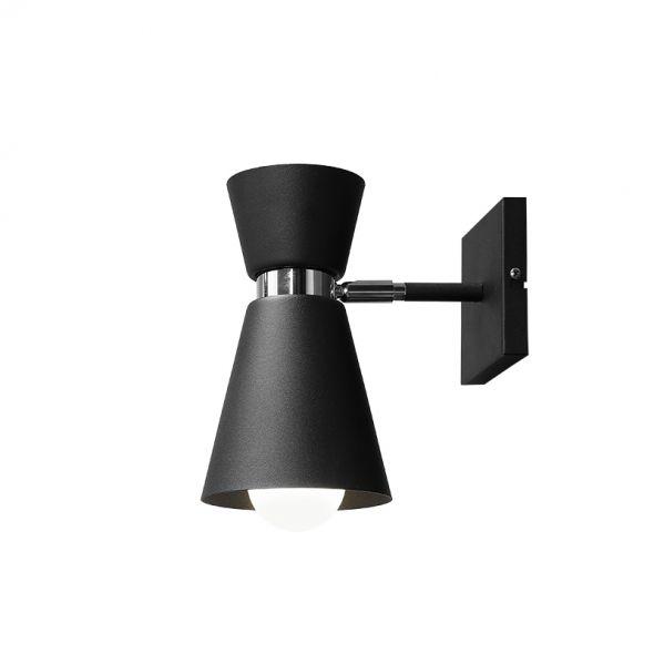 Kinkiet KEDAR BLACK 989C1 Aldex czarna minimalistyczna oprawa ścienna