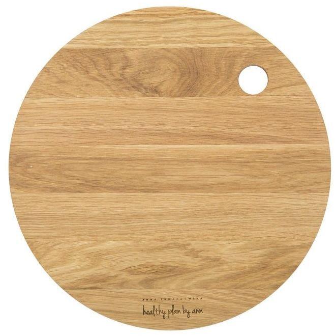 Hpba - dębowa deska do krojenia - okrągła - 27 cm