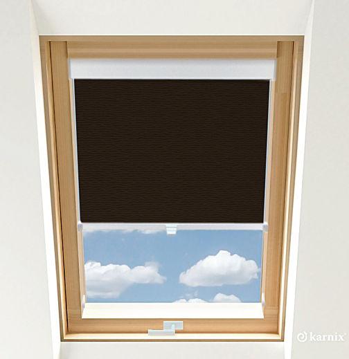 Rolety do okien dachowych - BASMATI - Wenge / Biały