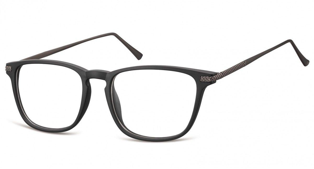 Okulary oprawki korekcyjne Nerdy zerówki Sunoptic CP144 czarne