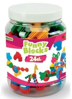 Klocki Funny blocks słoik 24 elementy