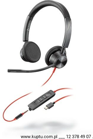 Blackwire 3325 przewodowy zestaw słuchawkowy USB-A (214016-01)