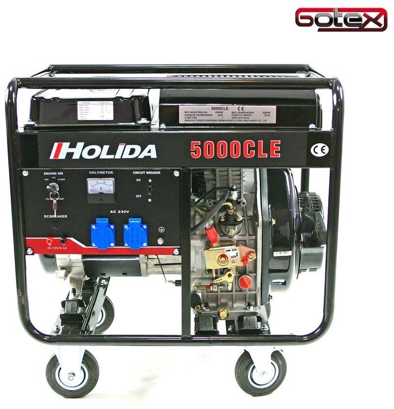 Agregat prądotwórczy, generator HOLIDA 5000CLE jednofazowy 5 kW EL. zapłon