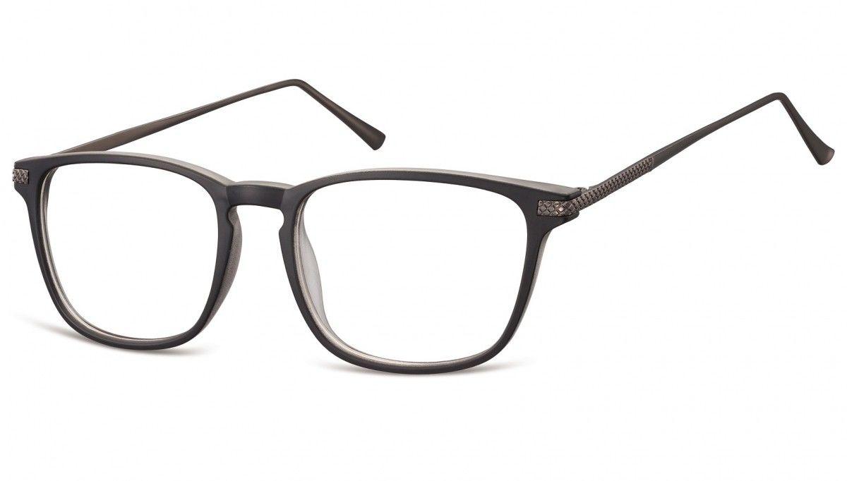 Okulary oprawki korekcyjne Nerdy zerówki Sunoptic CP144A czarne + przezroczyste