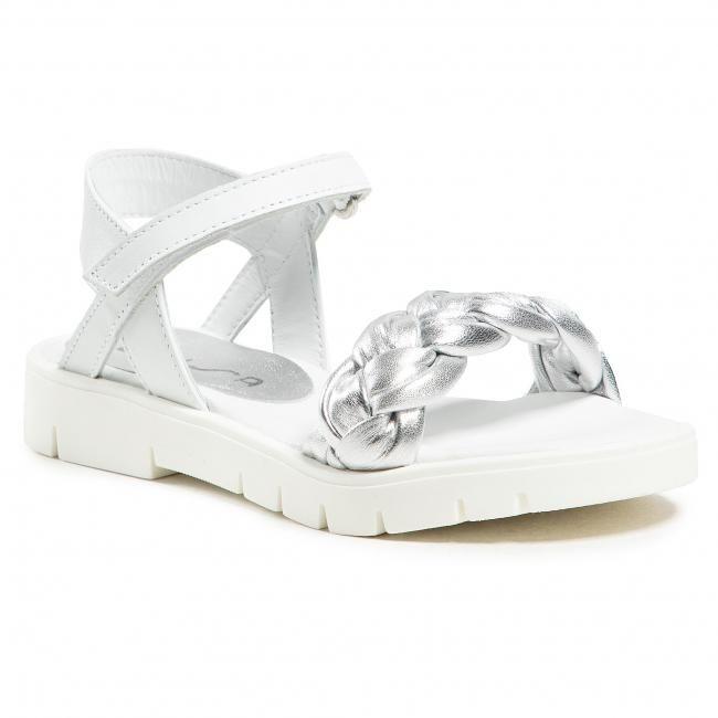 Sandały UNISA - Nansa Lmt Va M Silver/Whit