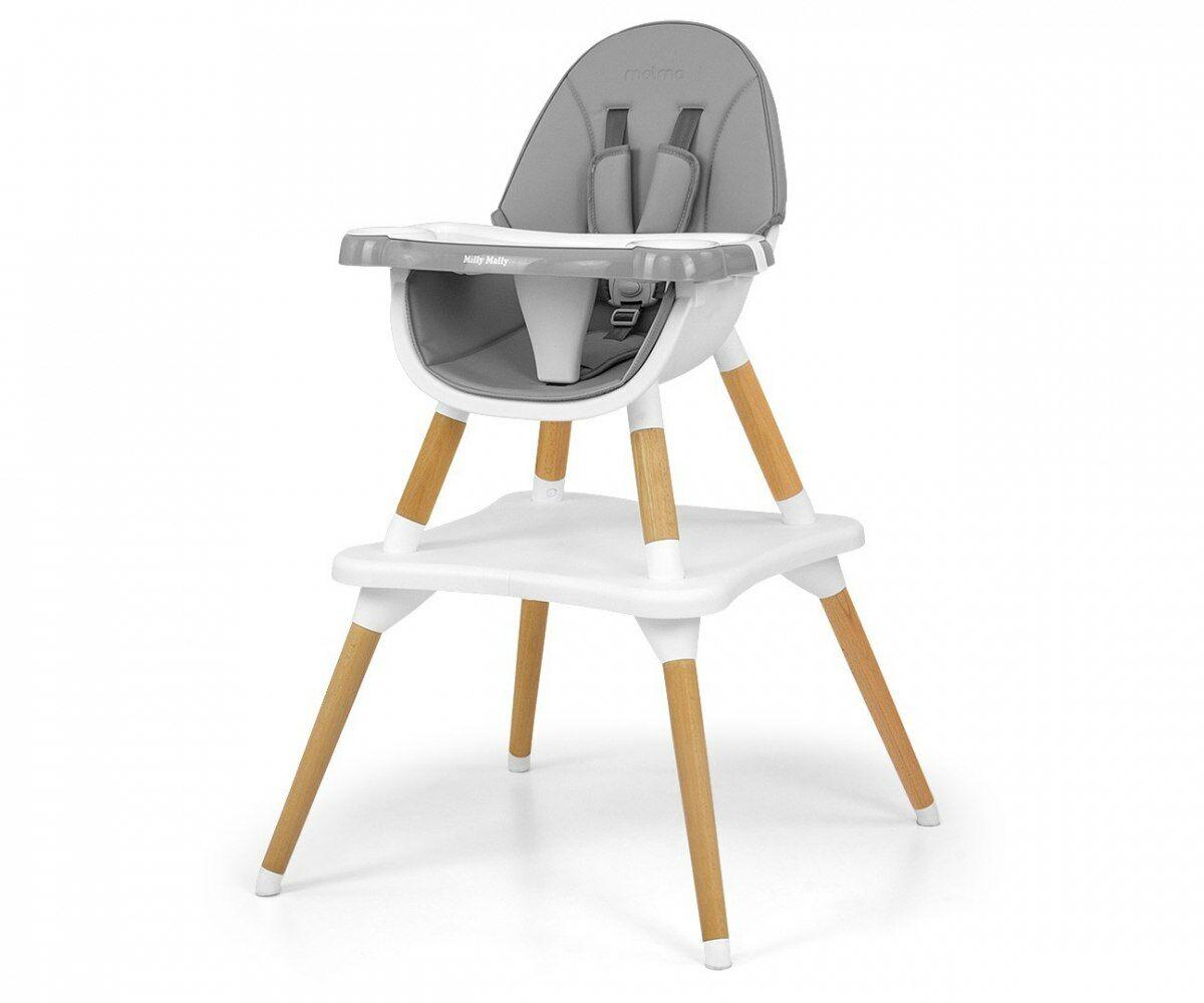 Krzesełko do karmienia 2w1 Malmo Grey