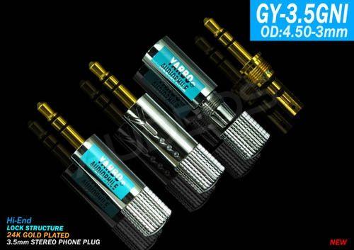 Yarbo GY-3.5GNI - wtyk jack 3.5mm TRS stereo pozłacany
