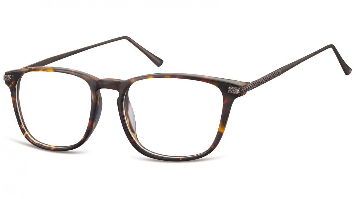 Okulary oprawki korekcyjne Nerdy zerówki Sunoptic CP144B szylkret-panterka
