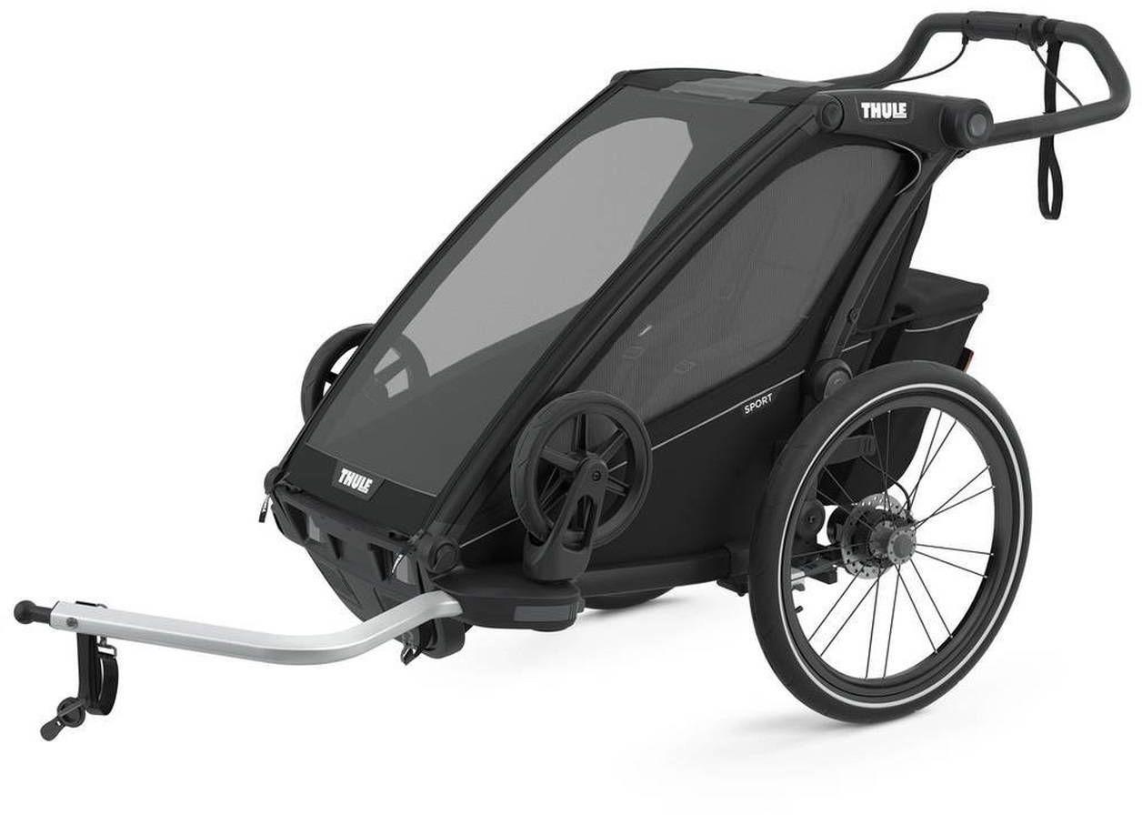 Przyczepka rowerowa dla dziecka - THULE Chariot Sport 1 - Midnight Black