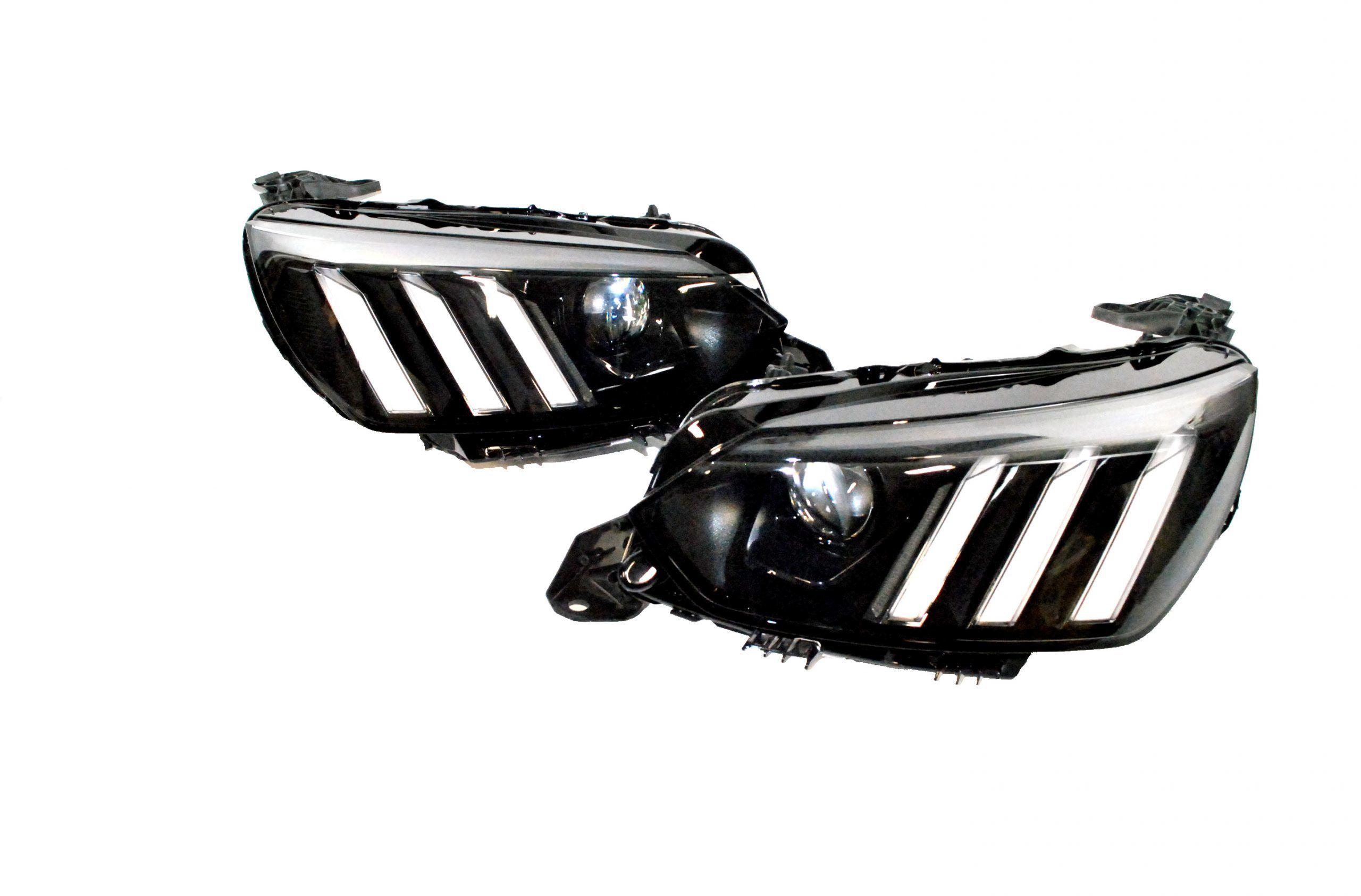 2x Nowe Oryginalne Reflektory Full Led Prawa i Lewa Strona Peugeot 208 Lift - 2019 9823193480 9823194180