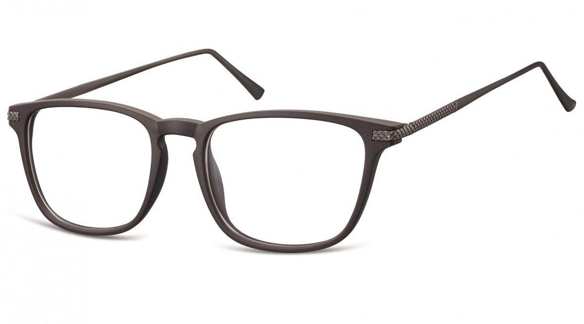 Okulary oprawki korekcyjne Nerdy zerówki Sunoptic CP144C ciemnobrązowe