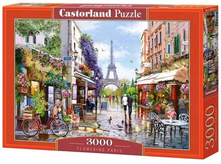 Puzzle 3000 Fowering Paris CASTOR - Castorland