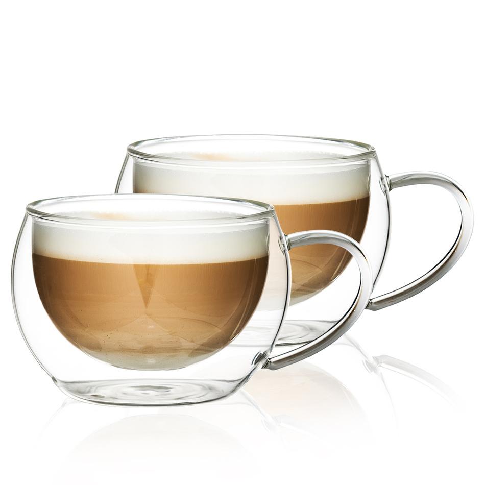4Home Szklanka termiczna do cappuccino Hot&Cool 280 ml, 2 szt.
