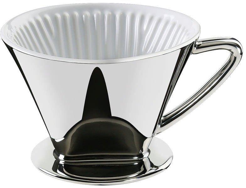 Cilio - filtr do kawy, rozmiar 4,  14,00 cm, srebrny - srebrny