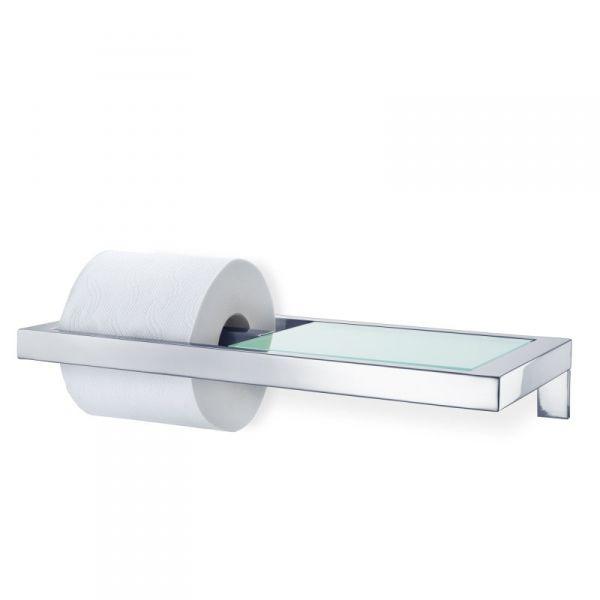 Blomus MENOTO Uchwyt na Papier Toaletowy z Półką - Polerowany
