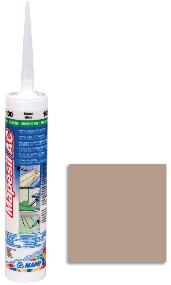 Silikon sanitarny MAPESIL AC 141 310 ml Karmelowy MAPEI