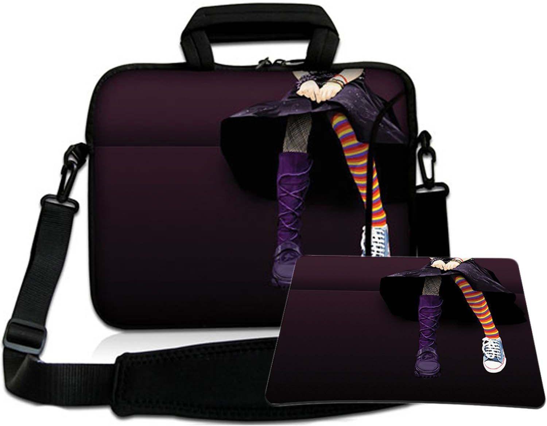 Luxburg torba na ramię torba na notebooka torba na laptopa torba z paskiem z neoprenu Plus Free Moupad! Do Apple, Acer, Asus, Chromebook, Dell, HP, Lenovo, Samsung, Sony itd. Laptop 12,1 cala
