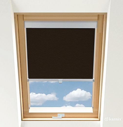 Rolety do okien dachowych - BASMATI - Wenge / Srebrny