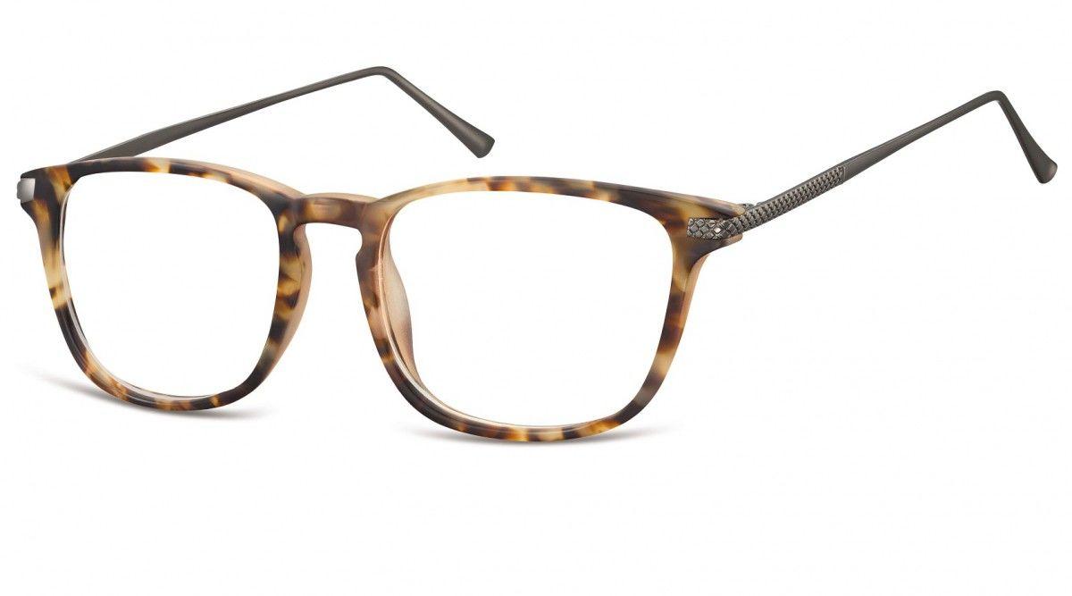 Okulary oprawki korekcyjne Nerdy zerówki Sunoptic CP144E jasny szylkret-panterka