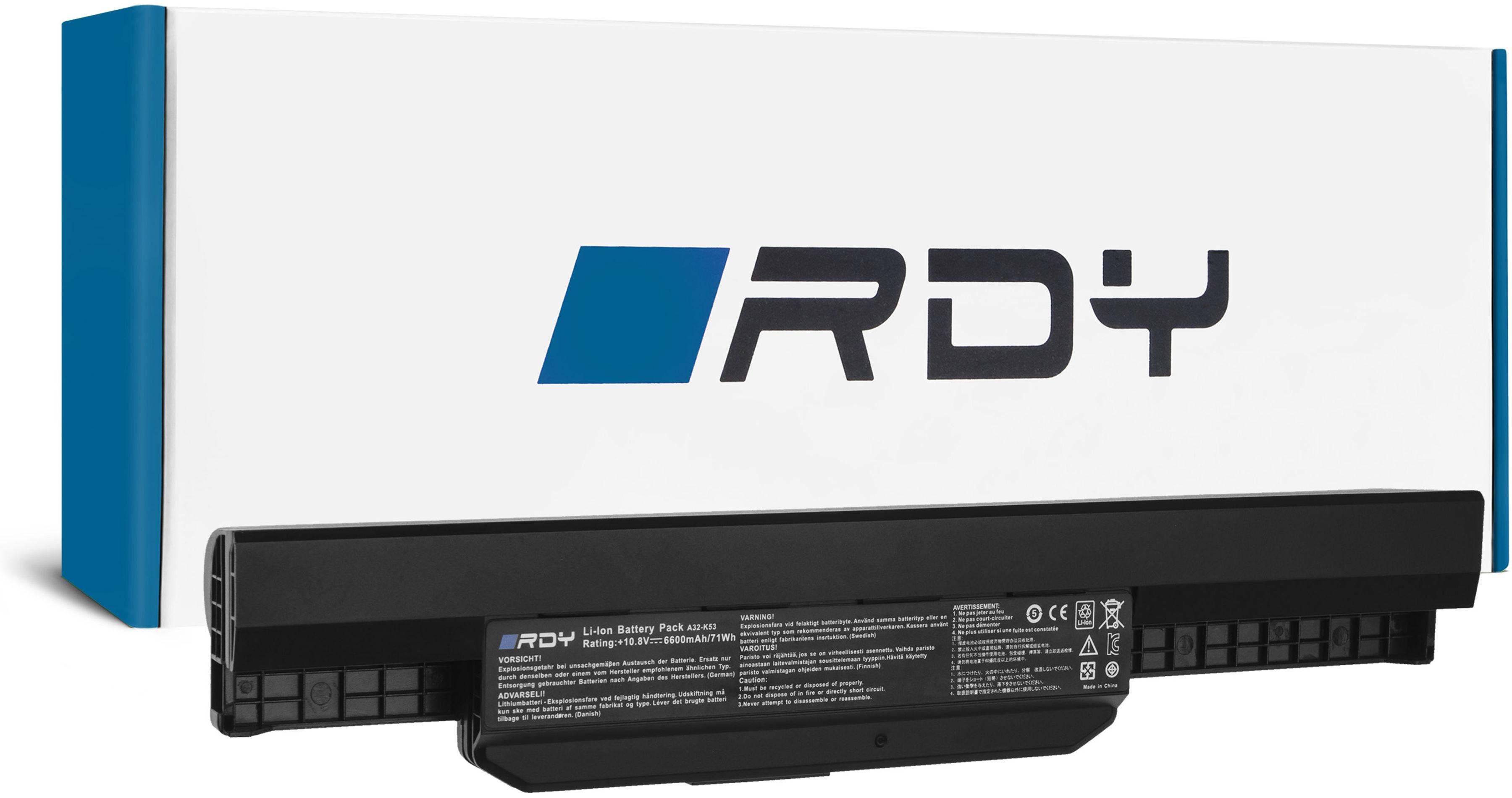 Bateria RDY A31-K53 A32-K53 A41-K53 A42-K53 do Asus A53U K53 K53E K53S K53SV X53 X53S X53U X54 X54C X54F X54H