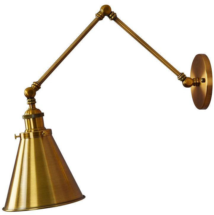 LAMPA ŚCIENNA KINKIET LOFTOWY MOSIĘŻNY RUBI W2