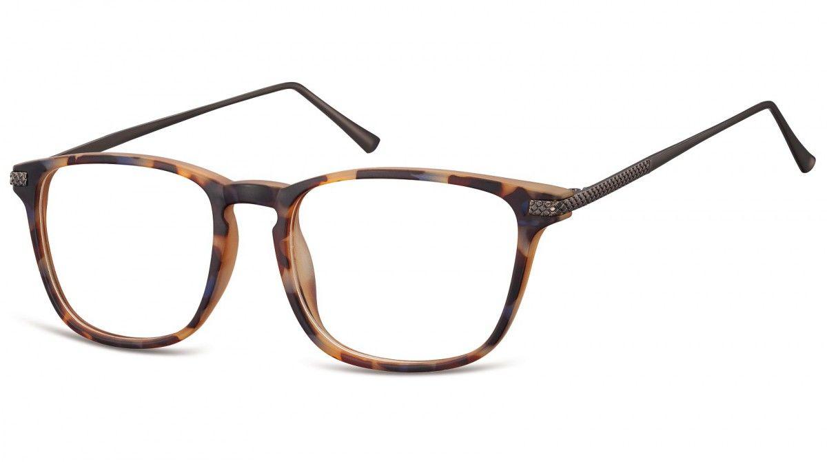Okulary oprawki korekcyjne Nerdy zerówki Sunoptic CP144F szylkret mix-panterka