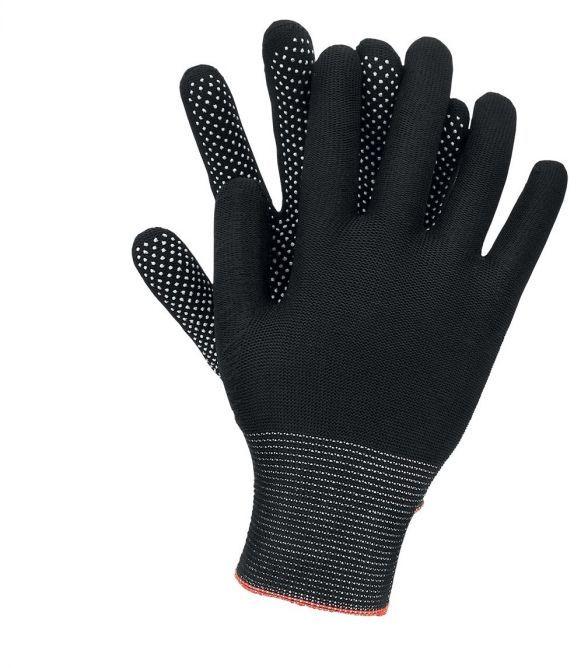 Rękawice RMICROLUX ogrodowe/budowlane/ochronne bawełna, nakrapiane