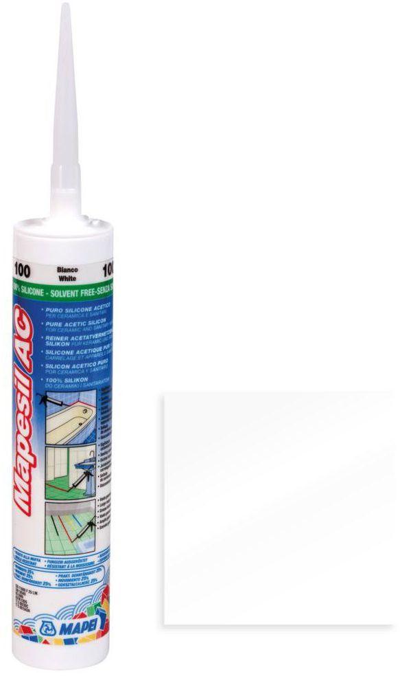 Silikon sanitarny MAPESIL AC 999 310 ml Bezbarwny MAPEI