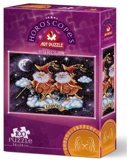 Puzzle 100 Znaki zodiaku - Bliźnięta - Artpuzzle