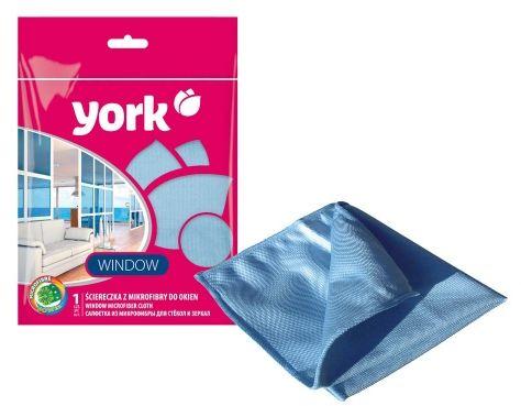 Ściereczka YORK z mikrofibry do okien 1 szt. niebieska