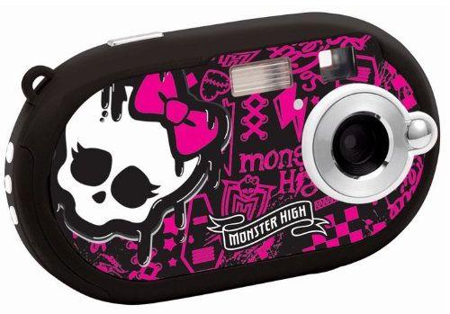 Lexibook DJ028MH Monster High cyfrowy aparat fotograficzny (5 megapikseli, wyświetlacz 3,6 cm (1,4 cala), 8 MB pamięci wewnętrznej, kolor czarny