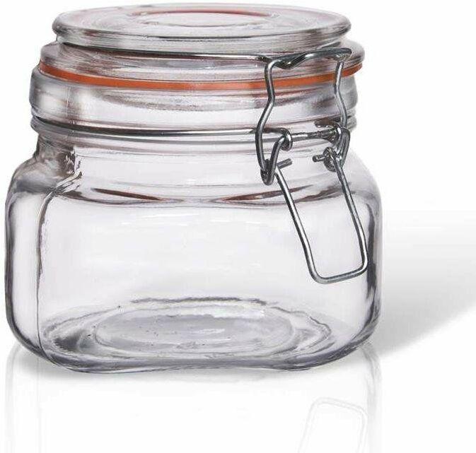 Słoik pojemnik szklany patentowy z klipsem BELA 0,5 l