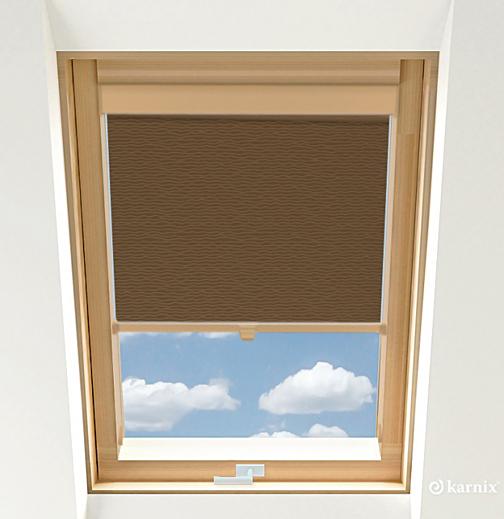 Rolety do okien dachowych - BASMATI - Orzech / Sosna