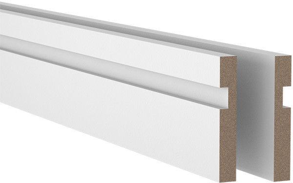 Listwa MDF LED 14 x 94 x 2000 mm square biała
