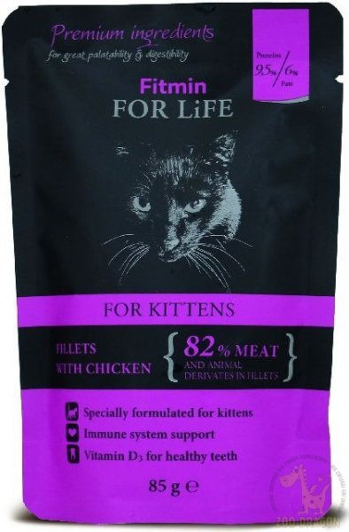 Fitmin Cat For Life Kitten Chicken 85g