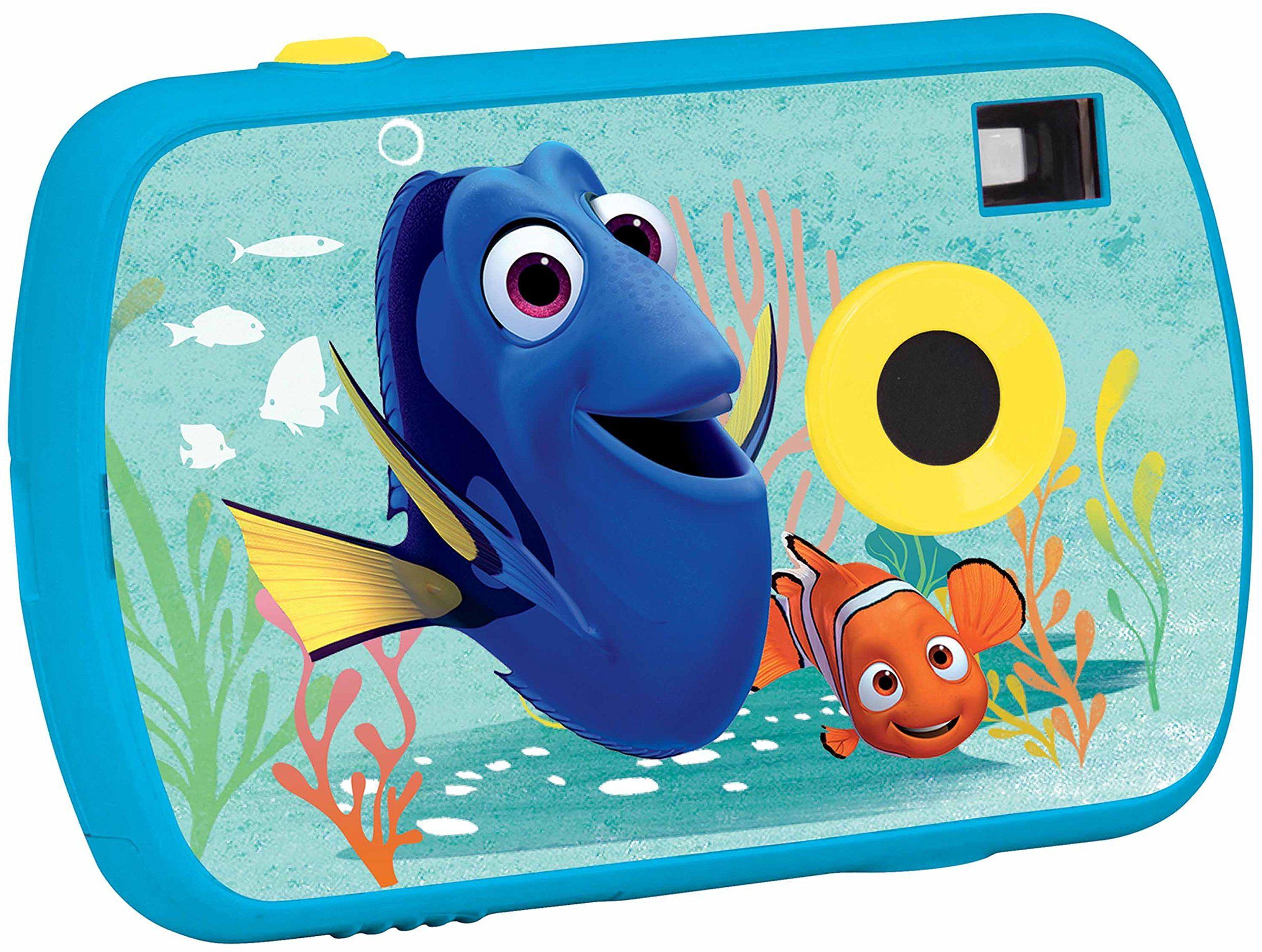 Lexibook Disney Finding Dory Marlin 1,3 MP aparat cyfrowy, ekran LCD, pamięć do przechowywania do 624 zdjęć, tryb wideo, niebieski, DJ017DO