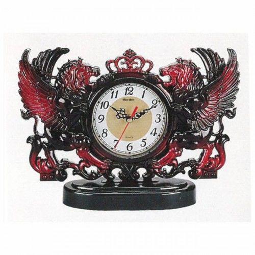 Zegar kominkowy skrzydlate lwy