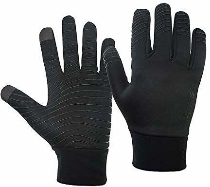 Precision Unisex-młodzieżowe niezbędne ciepłe rękawiczki dla graczy, czarne, dla juniorów