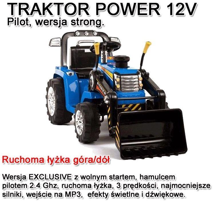 NAJMOCNIEJSZY TRAKTOR Z ŁYŻKĄ I PILOTEM 12V TRZY PRĘDKOŚCI/1005A
