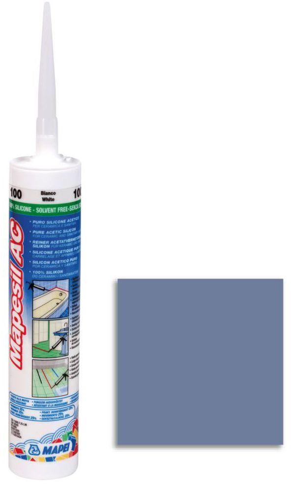 Silikon sanitarny MAPESIL AC 172 310 ml Niebieski MAPEI
