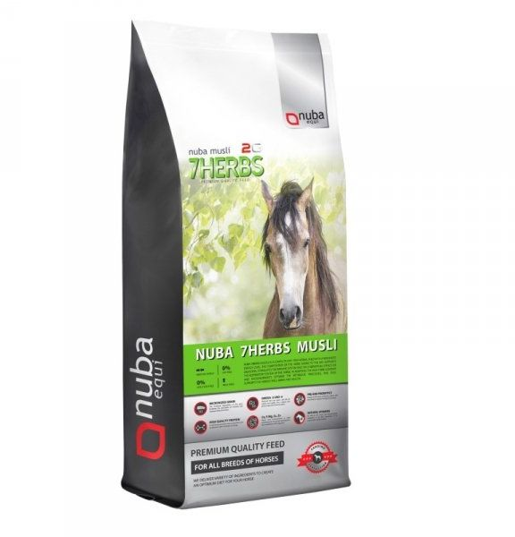 Musli ziołowe bez owsa - Nuba 7Herbs Musli 2G 20 kg - Nuba Equi