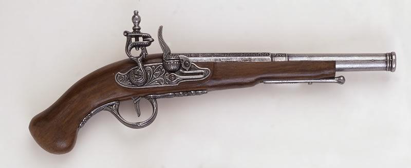 Antyczna replika pistoletu skałkowego k1052