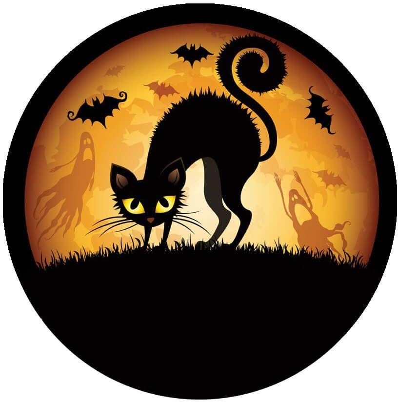 Dekoracyjny opłatek tortowy Halloween - 20 cm