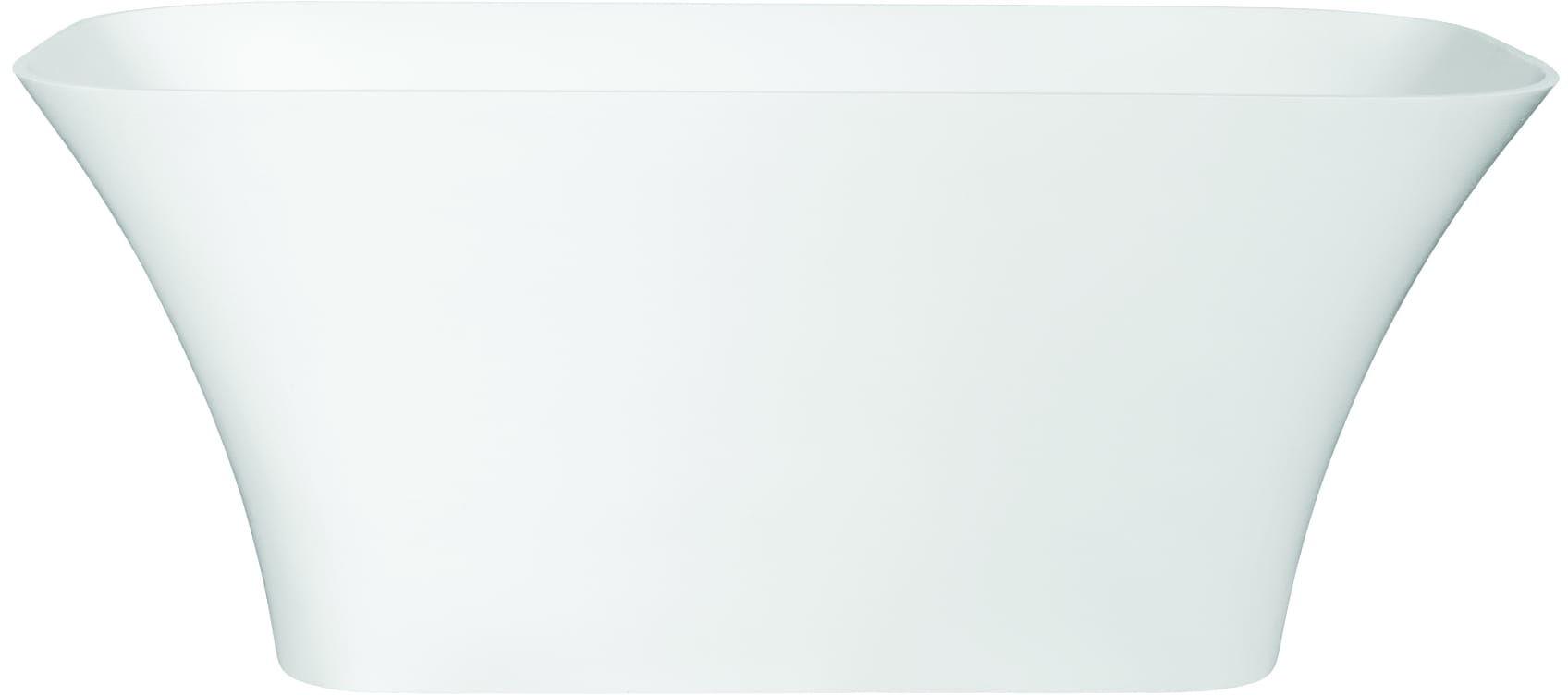 Besco wanna wolnostojąca Assos Glam Grafit 160x70 cm biało-grafitowa+ syfon klik-klak