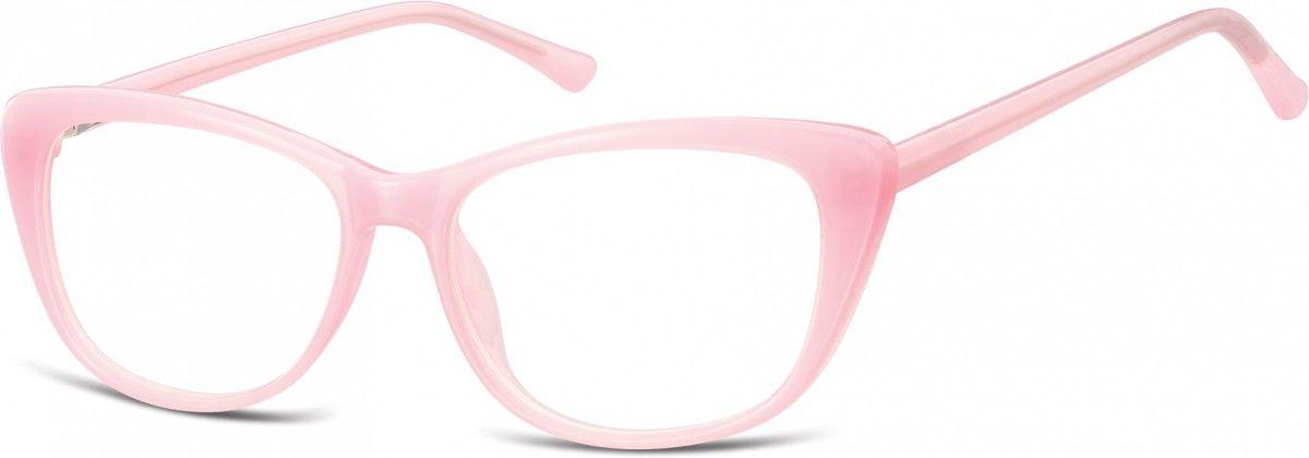 Okulary oprawki korekcyjne Kocie Oczy zerówki Sunoptic CP129B różowe
